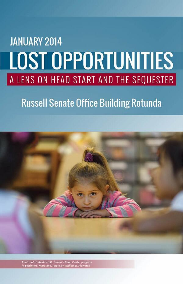 Lost Opportunities: A Lends on Head Start and the Sequester