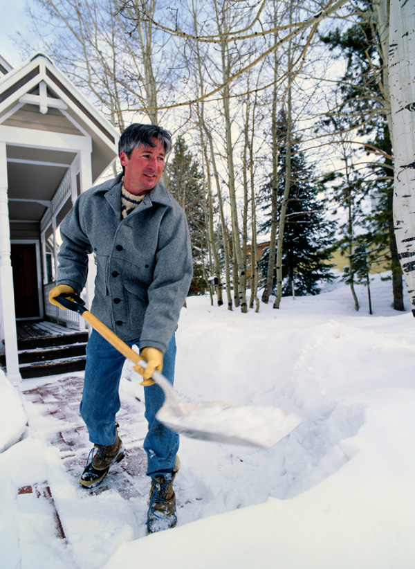 To avoid back injury or strain or heart trouble, use proper techniques when shoveling snow this winter.