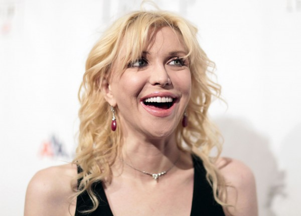 Actress Courtney Love arrives at &quotAn Enduring Vision,&quot a benefit dinner for the Elton John Aids Foundation in New York in this November 16, 2009 file photo.