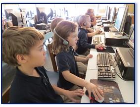 From left, Jon Day (grade five), Mary Grace Day (kindergarten).