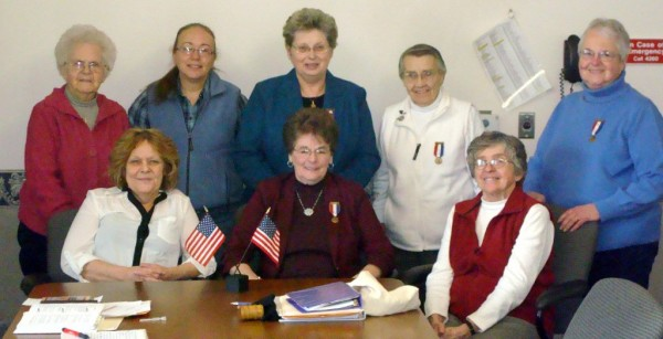 Front row: Diana Fowles, Senior Vice President, Carmen Smith, President, Sylvia Dean, Junior Vice President