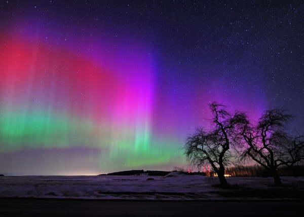This image of the Aurora borealis, also known as northern lights, was taken at 4:03 a.m. on March 17, 2013, on the Ginn Road in Presque Isle.