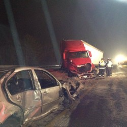 Jackknifed tractor-trailer temporarily shuts down Route 1A in Holden