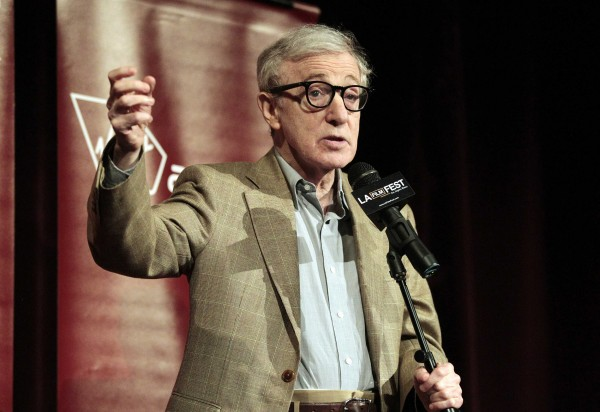Woody Allen speaks on stage at the premiere of &quotTo Rome with Love&quot at the Los Angeles Film Festival in California in this June 2012 file photo. Allen denied the recent accusations of his adopted daughter that he molested her when she was 7, insisting in an open letter Feb. 7, 2014 that the allegation was fabricated by her mother, actress Mia Farrow, with whom he was then fighting a custody battle.