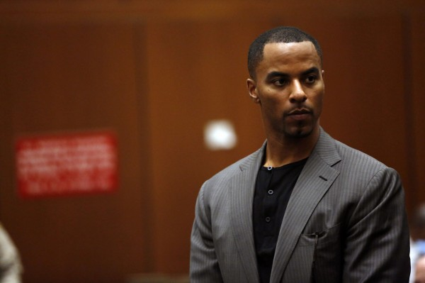 Former professional football player Darren Sharper appears for his arraignment at the Clara Shortridge Foltz Criminal Justice Center in Los Angeles, California February 20, 2014.