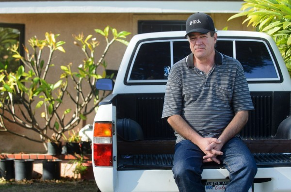 Todd Altmann, 53, of Orange, pictured Dec. 4, 2013, has vowed to never sign up for health care under Obamacare. He worries about identity theft by providing his personal information and said he would leave the country if it were necessary.