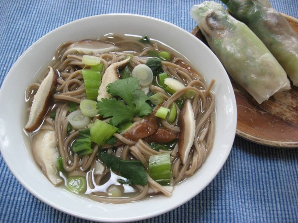 Shiitake Bok Choy Soup with Noodles, at the Daily Soup in Belfast