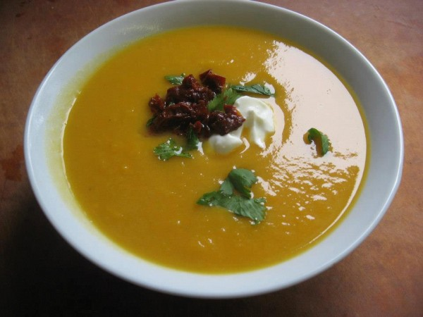 Cumin Spiced Sweet Potato Soup at the Daily Soup in Belfast