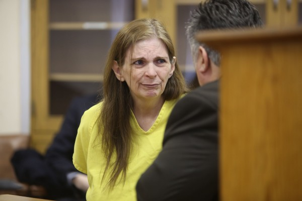 Donna Kay Scrivo appears at 40th District Court in St. Clair Shores, Mich., for her arraignment hearing on Monday, Feb. 3, 2014. Scrivo was charged with the dismemberment of her son Ramsay Scrivo.