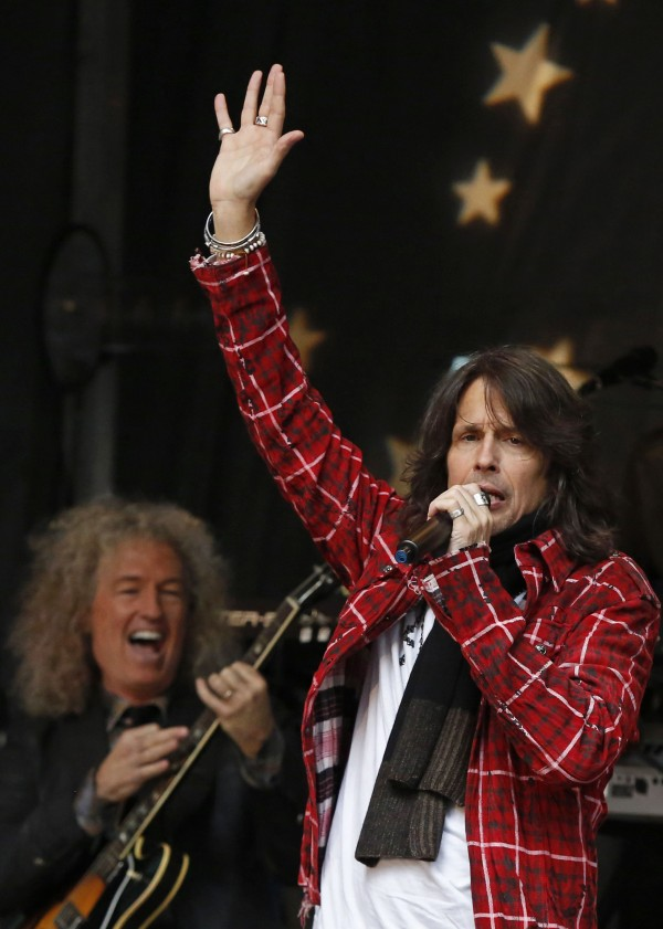 Singer Kelly Hansen performs on Fox News Channel's &quotFox and Friends&quot with his band Foreigner in New York, June 14, 2013.