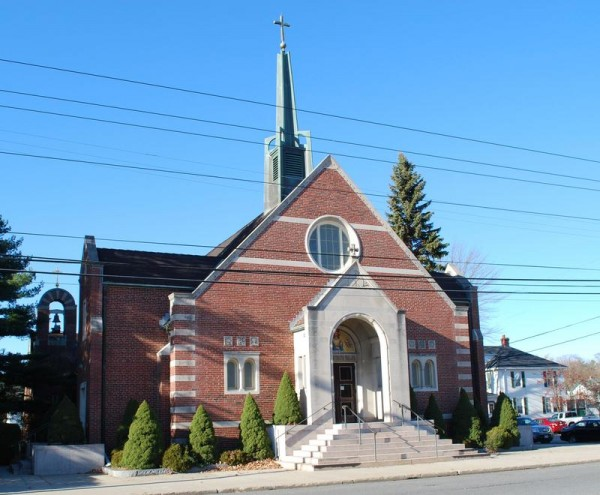 St. John the Evangelist Church at 611 Main St. in South Portland could be sold to a buyer who would tear it down for retail development.