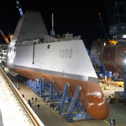 Navy seeks cause of fire in ship at Bath Iron Works