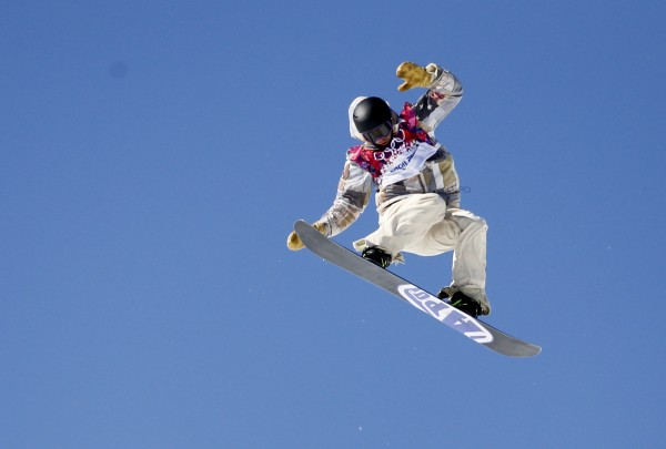 Sage Kotsenburg of the United States flies high during men's slopestyle semifinals at the Sochi 2014 Olympic Winter Games at Rosa Khutor Extreme Park. Kotsenburg went on to win gold in the event.