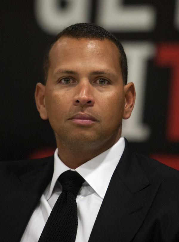 New York Yankees third baseman Alex Rodriguez attends a news conference in his gym in Cancun in this January 2014 file photo.