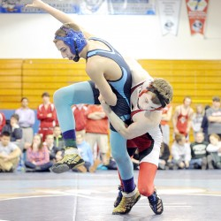 Dirigo wrestling team easily defends Western C title, but still may run wind sprints