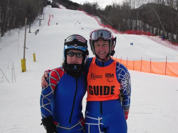 Lindsay Ball of Benton (left) and her guide Diane Barras will compete in the 2014 Paralympic Games in Sochi, Russia, next month.