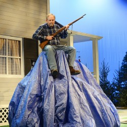 What's under that tarp? Orono playwright's new work premieres at Penobscot Theatre