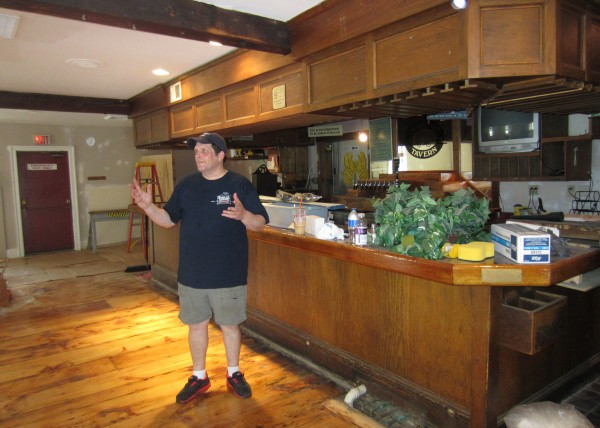 Tom Hincks of Yarmouth stands in the dining room of Jameson Tavern in Freeport in this June 2013 file photo.