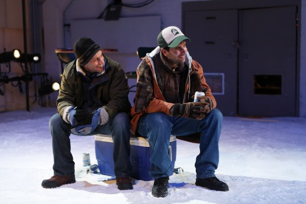 John Cariani (right) performs with Kevin Isola in &quotAlmost, Maine,&quot a play written by Cariani currently playing off-Broadway in a revival by Jack Cummings III, artistic director of Transport Group.