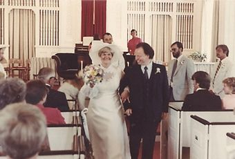 Merton Brown and his wife, Martha, on their wedding day.