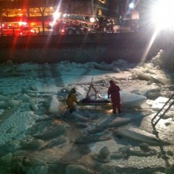 Bangor police, firefighters rescue woman after plunge