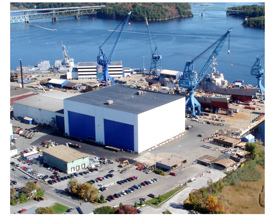 An artist's rendering shows a new, 51,315-square-foot, 11-story outfitting building proposed by Bath Iron Works.