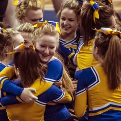 Behind the scenes at the state cheerleading championships