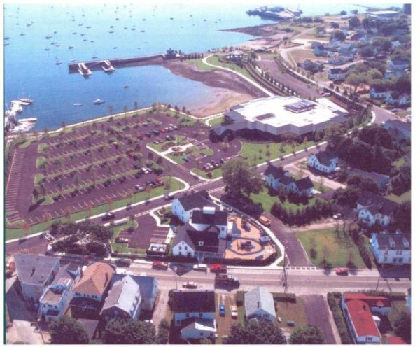 Rockland Harbor Park LLC is proposing building a 65-room hotel on the nearly 10 acres it owns on the city's waterfront. The hotel would be located near the pier at the top of this photograph where the gazebo and the smaller parking lot are.