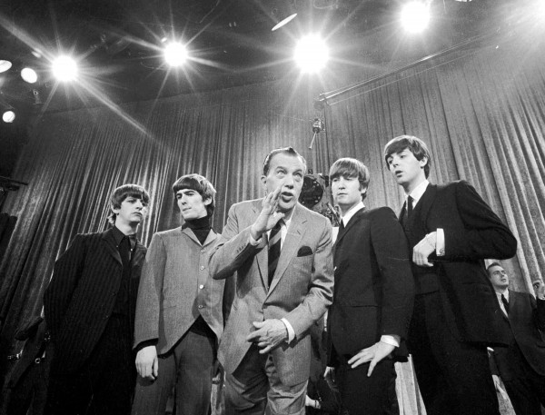 A file photo of the Beatles on &quotThe Ed Sullivan Show&quot in New York City.