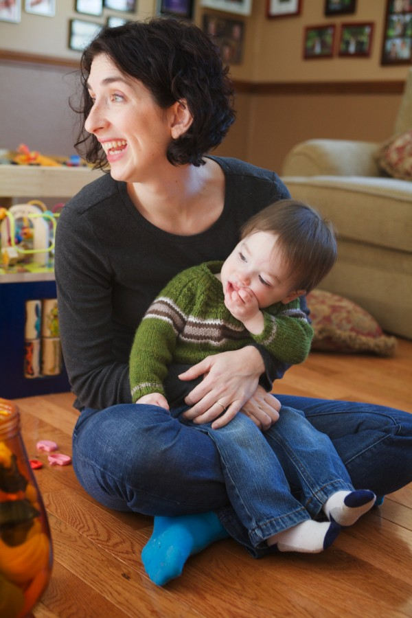 Foster Chicoine, 17 months, snuggles with his mother, Jerusha, at their home in New Gloucester on Thursday.