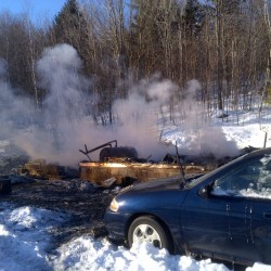 Elderly Maine man's body found in burning home