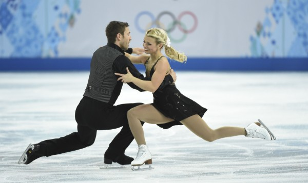 Kirsten Moore-Towers and Dylan Moscovitch of Canada during the figure skating team pairs free skating portion of the competition at the Sochi 2014 Olympic Winter Games on Saturday.