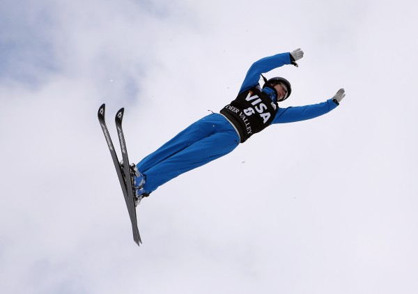 Emily Cook of the United States competes in the qualifying round of the women's FIS World Cup aerial ski jump competition at Deer Valley Resort Jan. 10. Cook will be competing in her third Winter Olynmpics in Sochi, Russia.
