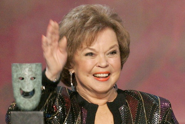 Actress Shirley Temple Black waves as she accepts the Screen Actors Guild Life Achievement Award at the 12th annual Screen Actors Guild Awards in Los Angeles, Calif., in this January 2006 file photo. Temple Black died on Feb. 10 at the age of 85.