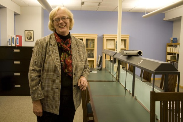Elisabeth Doucett, director of Curtis Memorial Library in Brunswick, shows off the library's new Genealogy Room, which provides several resources to help patrons research their ancestry. Doucett is also helping lead a new storytelling project in partnership with StoryCorps, a nonprofit best known for its interviews aired weekly on National Public Radio.