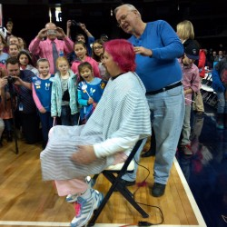 UMaine coach Barron to wear pink hair, get head shaved at Sunday 'Play4Kay' basketball game