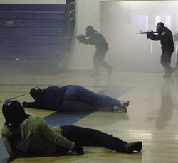 Husson University students prepare for the worst through mock shooting