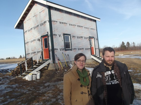 Brian and Susan Giles are carving out a life as homesteaders in their 16- by 24-foot unfinished home in the Washington County community of Alexander.