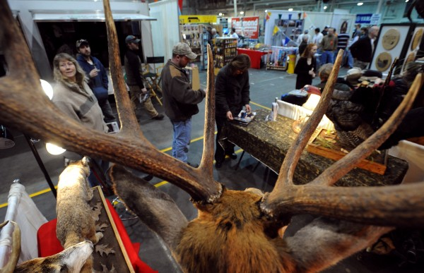 In this March 2009 file photo, people sample opening day attractions at the 71st annual Eastern Maine Sportsmen's Show at the University of Maine Field House in Orono.