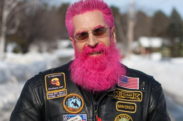 Stephen Betters, 58, of Portland has gained international attention for going pink and turning a losing bet into a fundraising effort for Barbara Bush Childrens' Hospital.