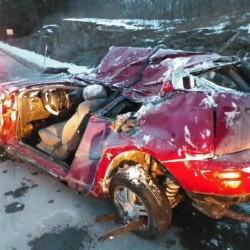 Rollover crash sends Pittsfield family of 4 to hospital