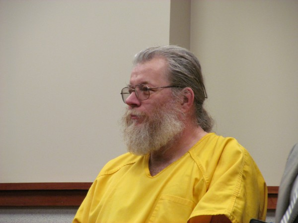 Gary Allen Irving, who was convicted of three rapes in Massachusetts in 1978 and was found living in Gorham last week, appears in Cumberland County Unified Criminal Court in Aprile 2013.