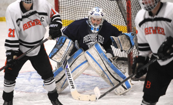 Presque Isle High School goalie Jillian Flynn is a superstitious player who is very particular about her game preparation.