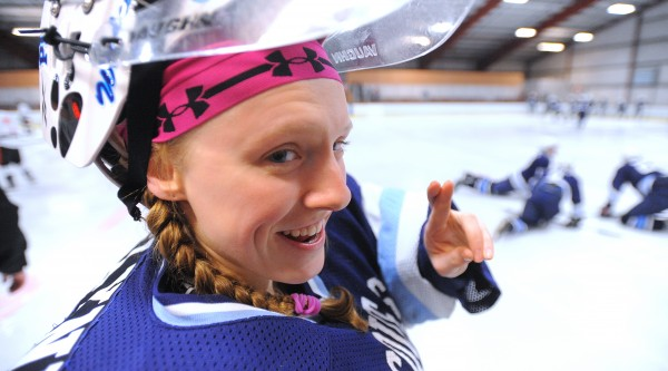 Presque Isle High School goalie Jillian Flynn is a superstitious player.  She always puts two hair bands in her hair on game days and is very particular about her game preparation.