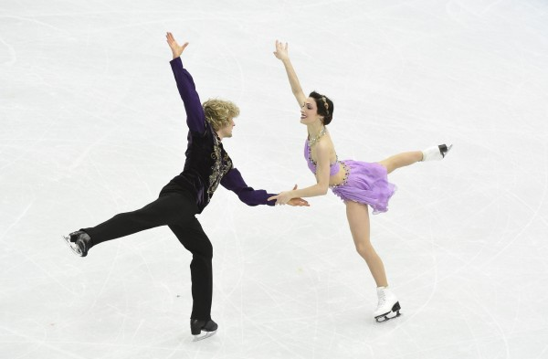Meryl Davis and Charlie White of the U.S. perform during the ice dance free dance program during the Sochi 2014 Olympic Winter Games at Iceberg Skating Palace on Monday.