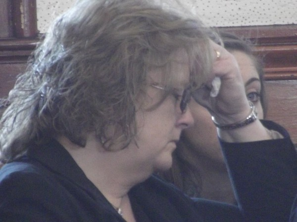 Lisa Thornton sat with other family members and friends during the sentencing hearing for her husband, Clifford, in Washington County Superior Court on Friday.