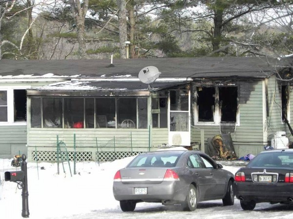 The Freeport mobile home rented by the Argraves family had to be torn down after it was gutted by fire in January. The Argraves are grateful to the American Red Cross for the assistance they received in the wake of the fire.