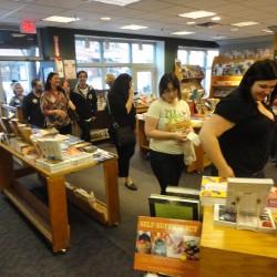 "Cash Mob Rockland ""mobbed"" Hello Hello Books: a Big Sales Boost!"
