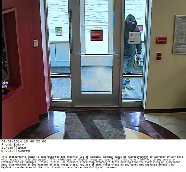 Key Bank in Ellsworth was robbed on Monday afternoon. The investigation was still ongoing as of mid-afternoon on Monday.