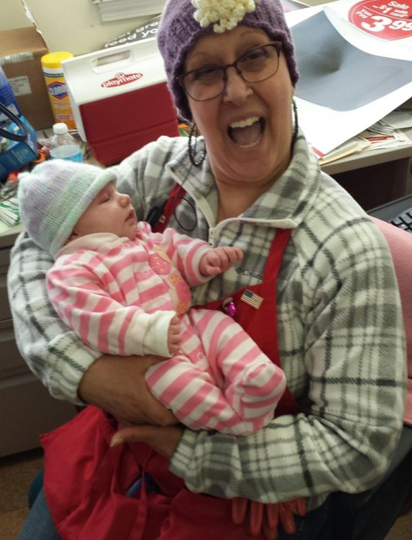 A fundraiser for breast cancer patient Cheryl Frye, holding a co-worker's child, will be held Saturday, March 8. The Bowdoinham woman is a supervisor at Rogers Ace Hardware in Bath, which is organizing the event at the Bath Senior Center.
